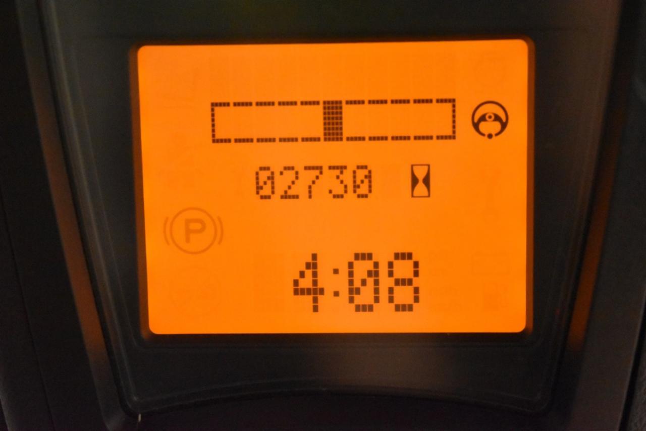 LINDE E 16 C-02 - AKU, 2014, BP, volný zdvih, Triplex, pouze 2703 mth