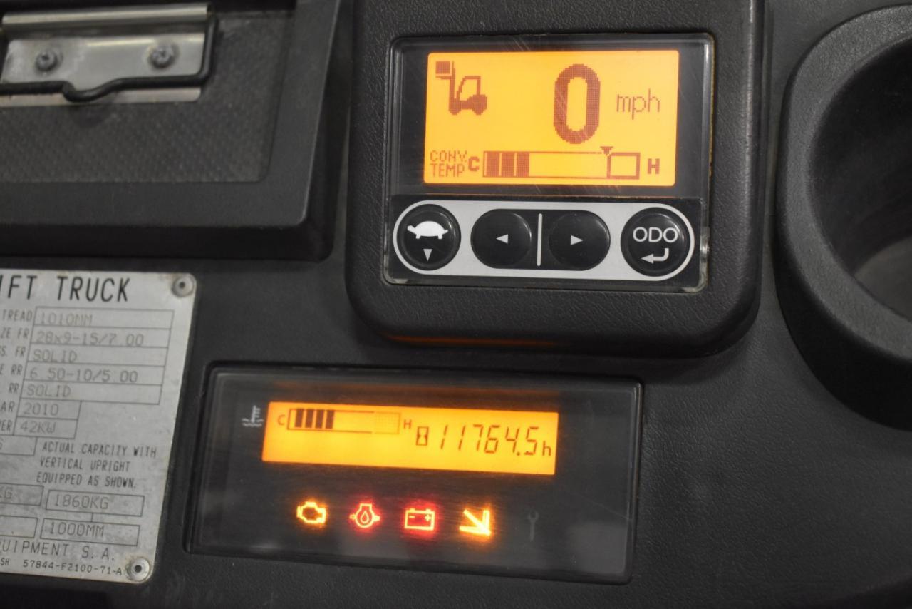 29464 TOYOTA 02-8FGF30 - LPG, 2010, polokabina, BP, volný zdvih,  V PRONÁJMU