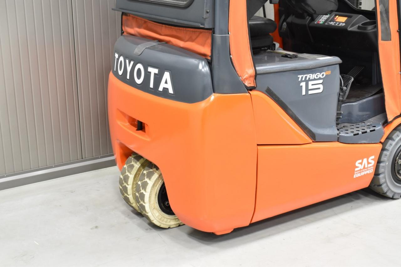 30600 TOYOTA 8FBET15 - Battery, 2013, semi-cabin, SS, free lift, only 1692 hrs