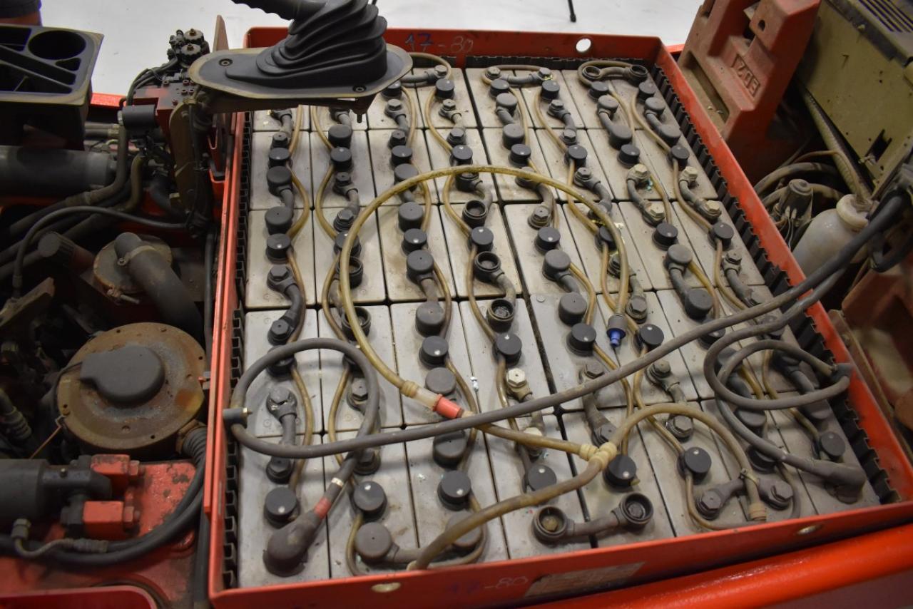 30635 LINDE E 25/02 - AKU, 2005, Kabina, BP, volný zdvih, Triplex, pouze 6920 mth