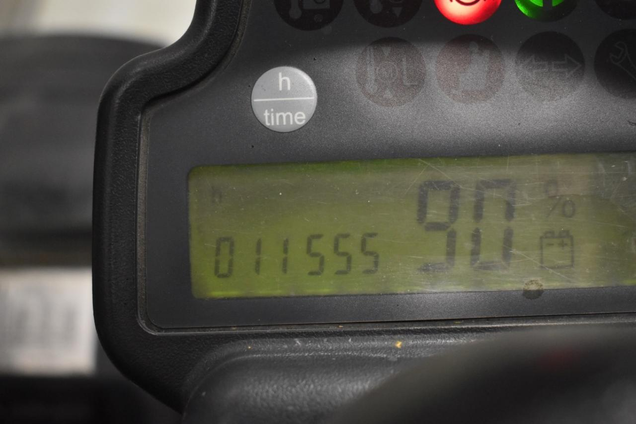 30761 JUNGHEINRICH EFG 430 - AKU, 2011, Kabina, BP, volný zdvih, Triplex
