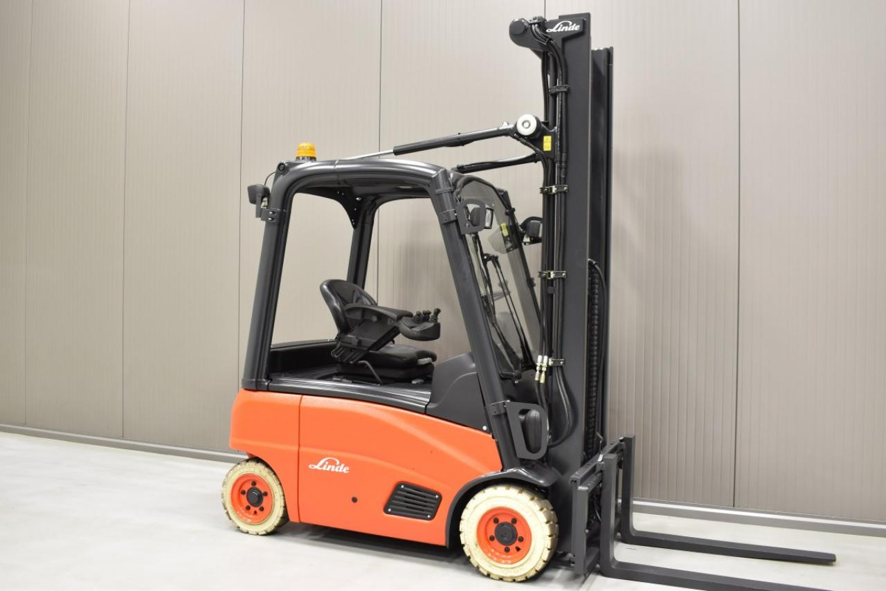 31318 LINDE E 16 P-01 - Battery, 2010, SS, free lift, only 1622 hrs