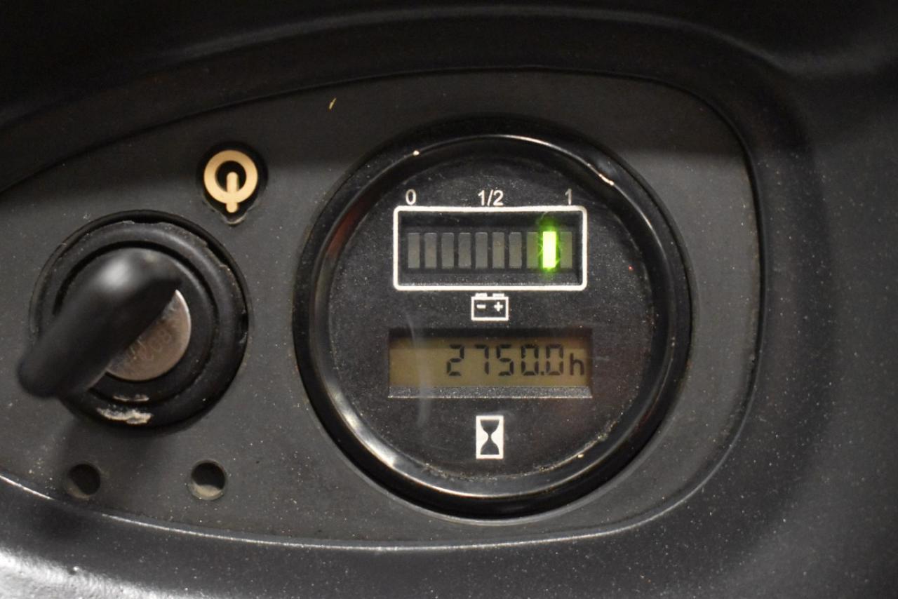 31472 LINDE L 14 - AKU, 2009, volný zdvih + přízdvih, Triplex, pouze 2749 mth, BAT 2014