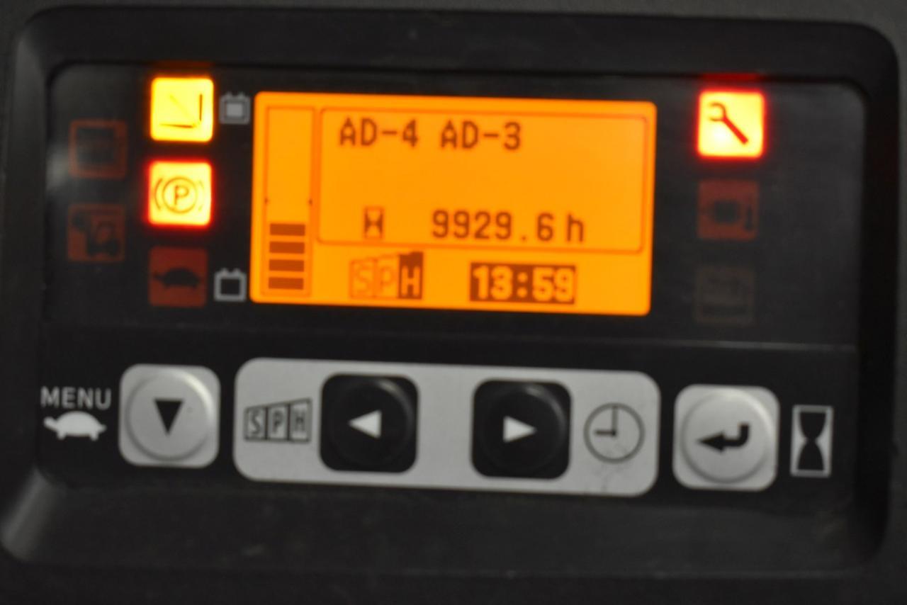 31666 TOYOTA 8FBET15 - AKU, 2013, volný zdvih, Triplex
