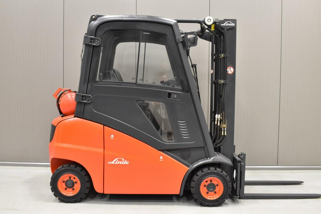 31677 LINDE H 16 T-01 - LPG, 2011, Kabina, BP, volný zdvih, pouze 5721 mth