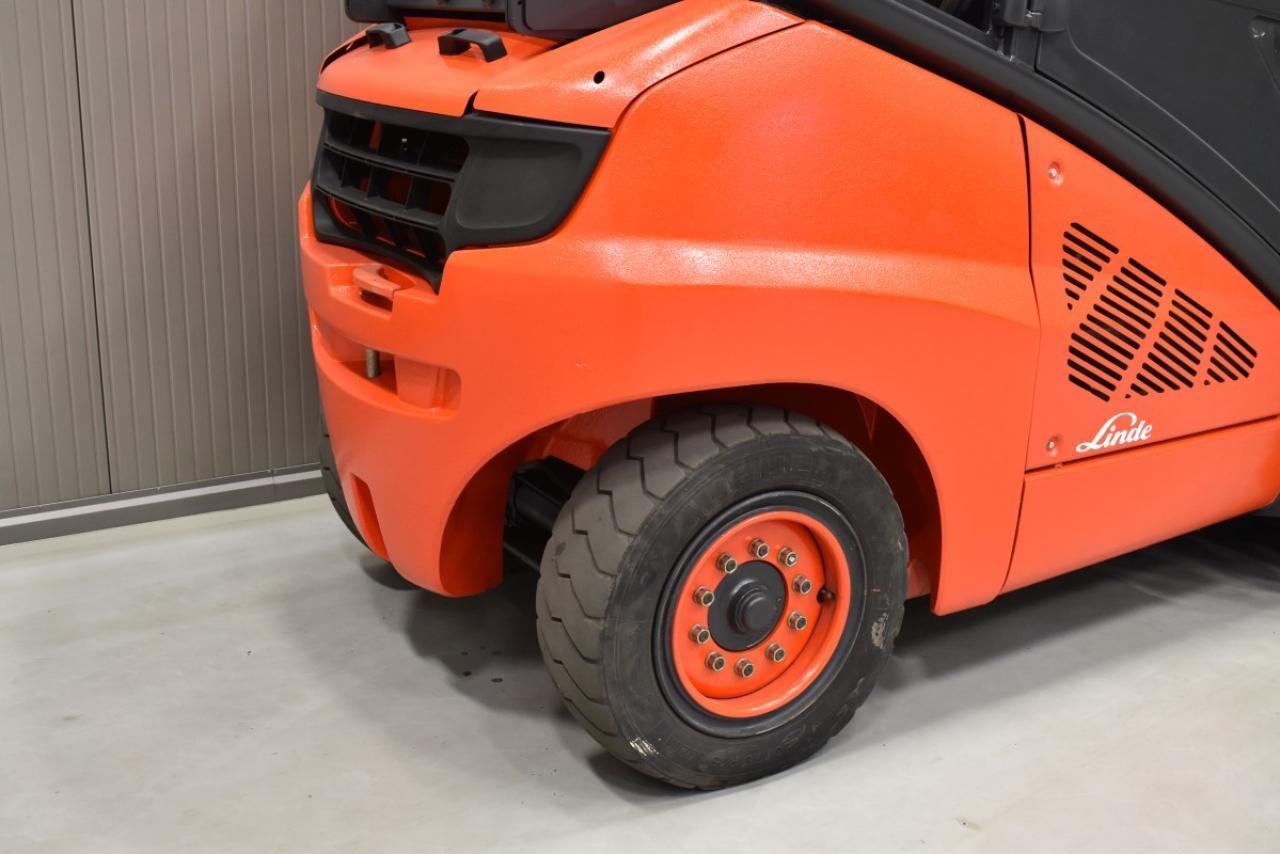 31905 LINDE H 50 T-02 - LPG, 2013, Kabina, BP, volný zdvih, Triplex