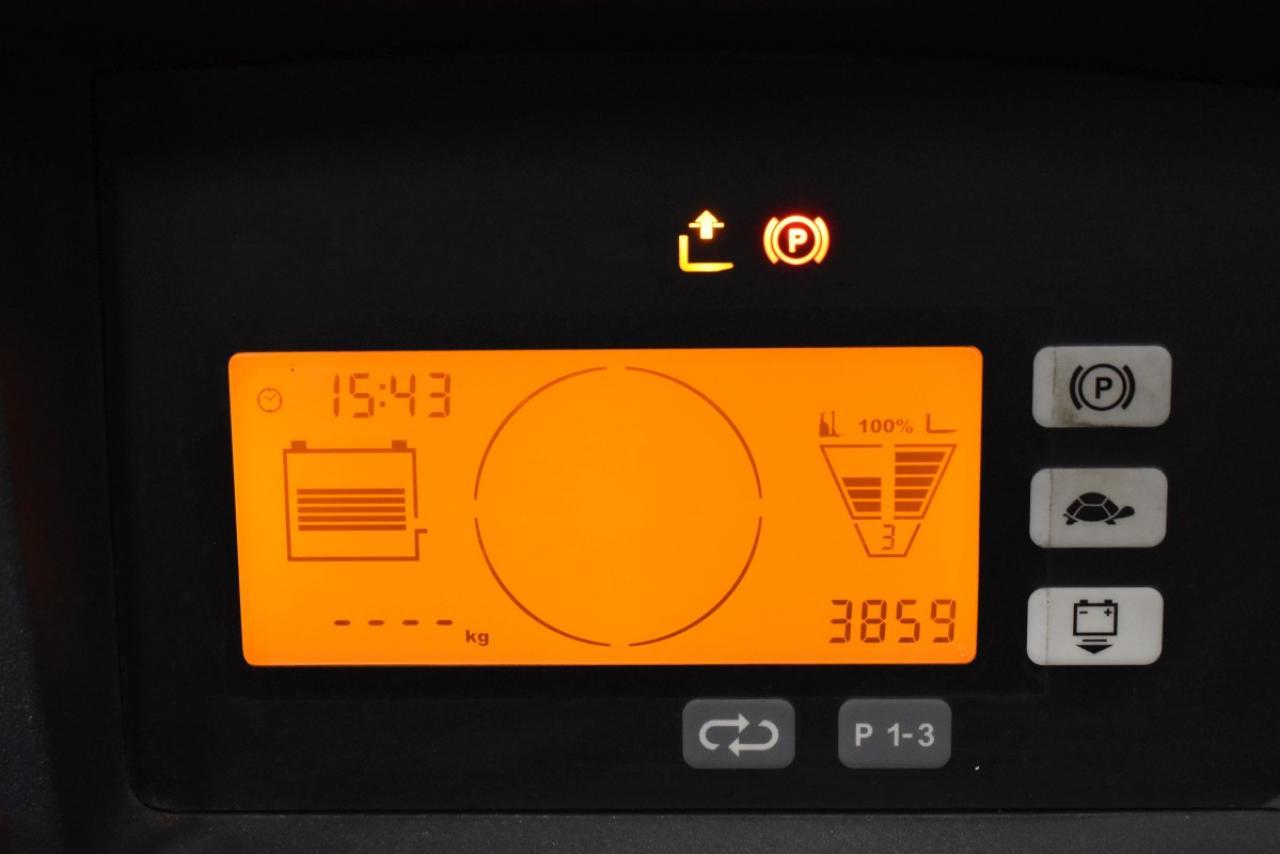 32070 JUNGHEINRICH ETV 320 - AKU, Retrak, 2014, Kabina, BP, volný zdvih, Triplex, pouze 3859 mth