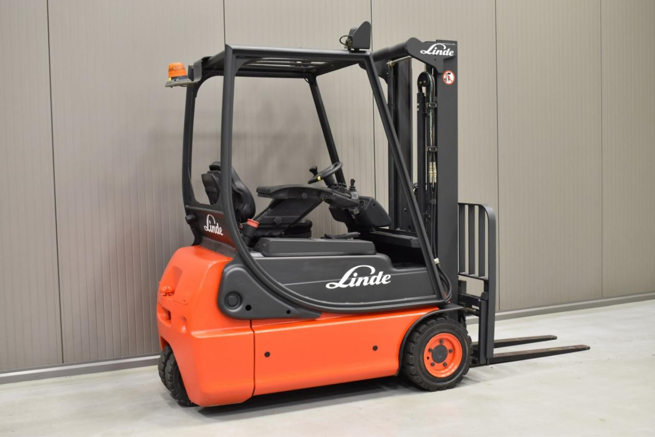 32537 LINDE E 16 C-02 - Battery, 2003, SS, Free lift, only 4862 hrs