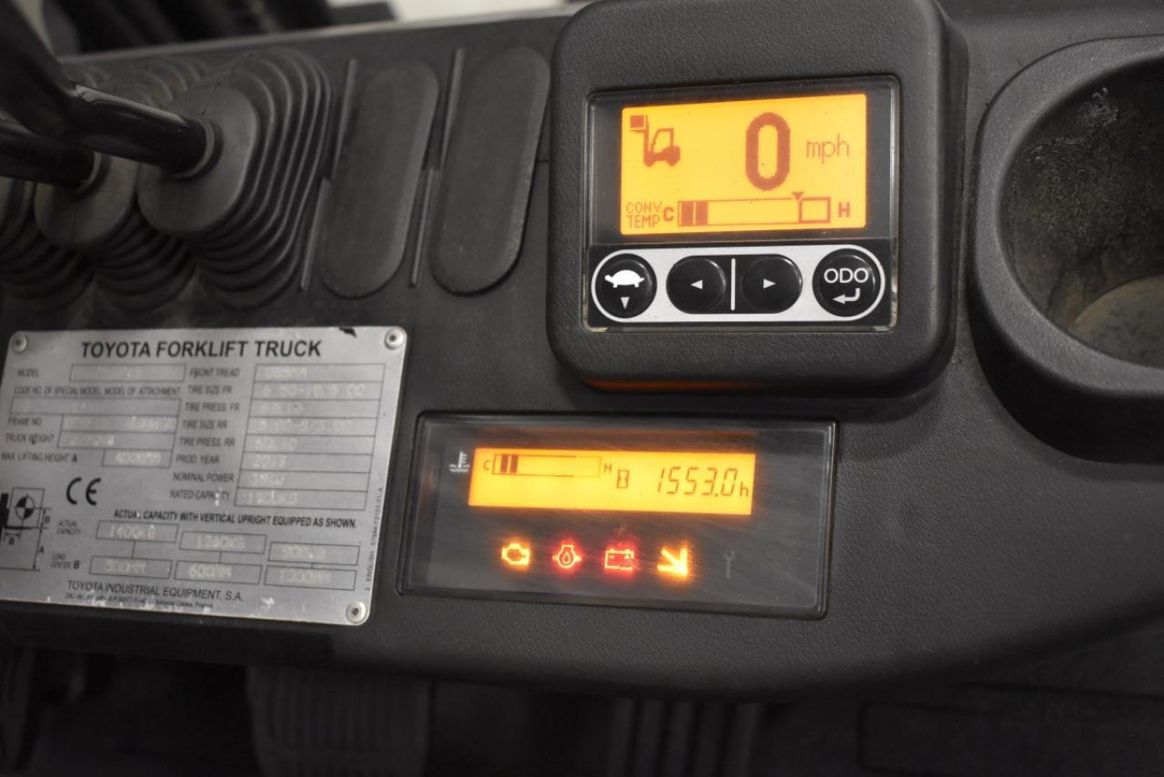 32755 TOYOTA 02-8FGF15 - LPG, 2013, BP, pouze 1552 mth