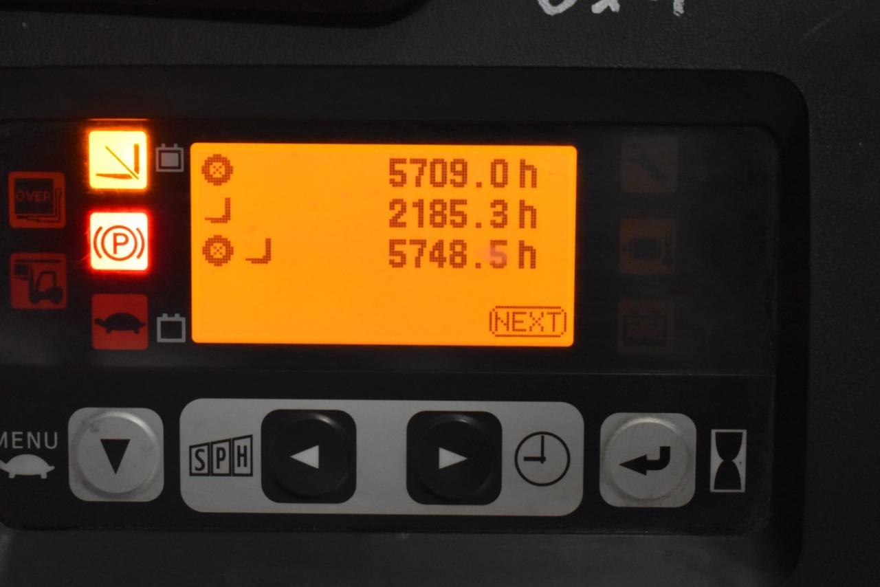 32769 TOYOTA 8FBMT15 - AKU, 2010, polokabina, BP, volný zdvih, Triplex, pouze 5748 mth