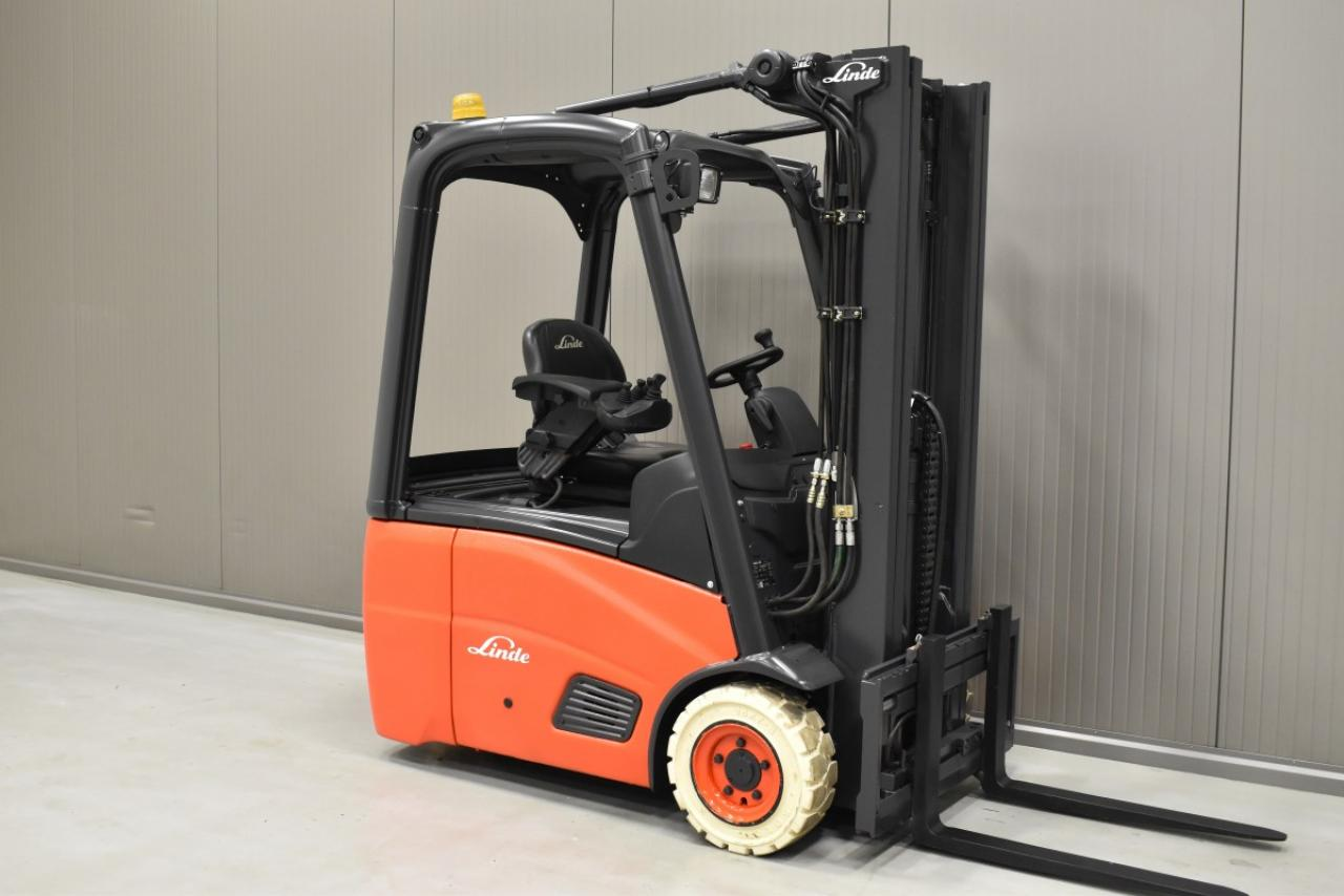 33790 LINDE E 15-01 - Battery, 2013, SS, Free lift, TRIPLEX, only 4493 hrs