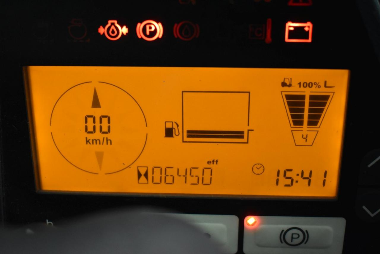 34483 JUNGHEINRICH TFG 550 S - LPG, 2012, Kabina, BP+HSV, Volný zdvih, Triplex, pouze 6448 mth