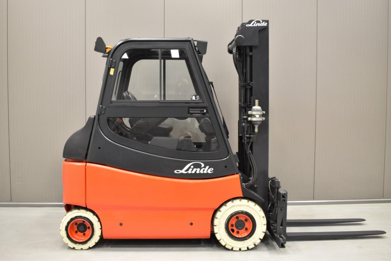 34611 LINDE E 25/03/600 - Battery, 2008, Cabin, SS+FP, Free lift, TRIPLEX, only 6770 hrs,  RESERVE