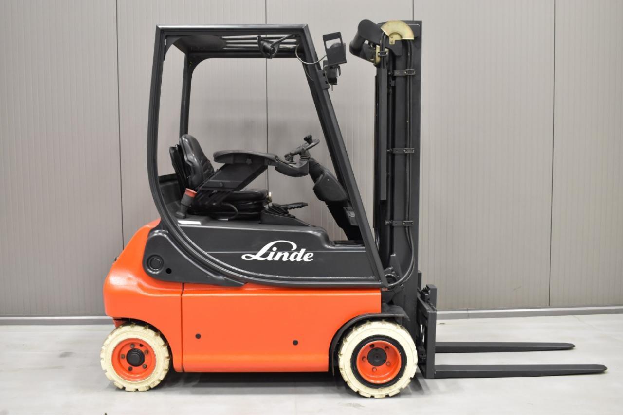 34693 LINDE E 18 P-02 - Battery, 2004, SS, Free lift, TRIPLEX, only 4551 hrs