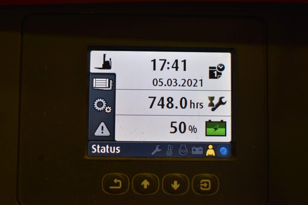 35284 LINDE L 14 - AKU, 2014, Volný zdvih, Triplex, pouze 748 mth