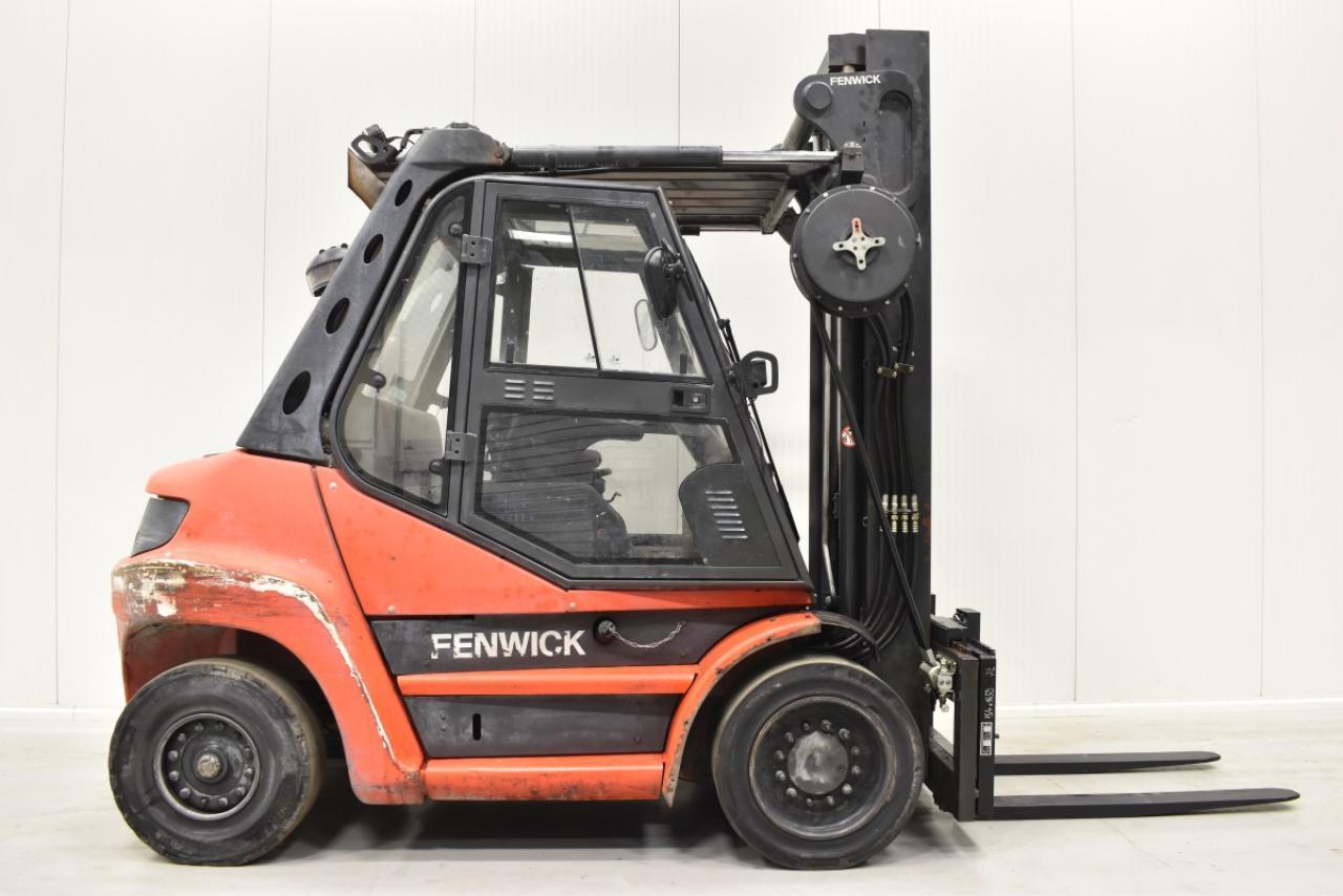 29394 LINDE H 60 D-02 - Diesel, 2013, Kabina, BP, volný zdvih, Triplex
