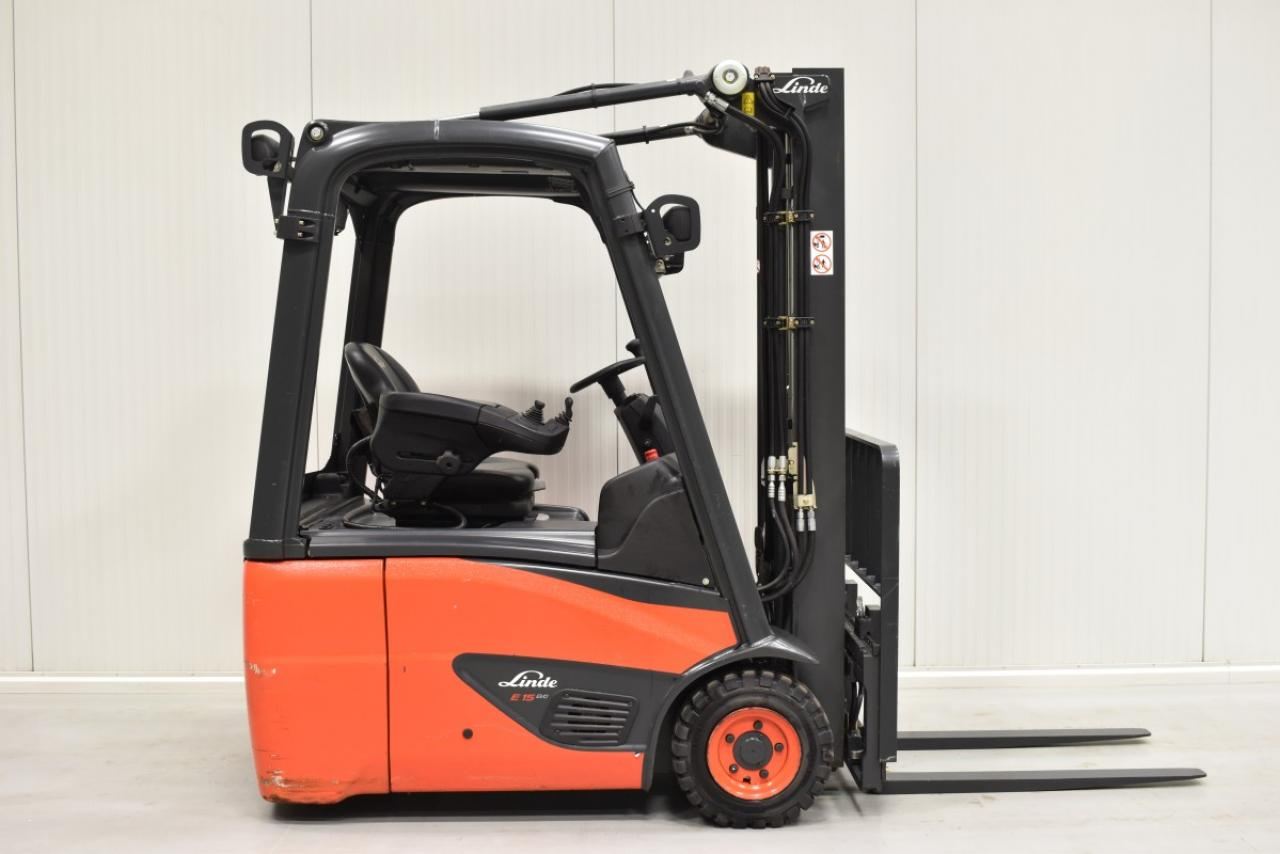 29430 LINDE E 15-02 - Battery, 2016, SS, Free lift, only 222 hrs,  RESERVE