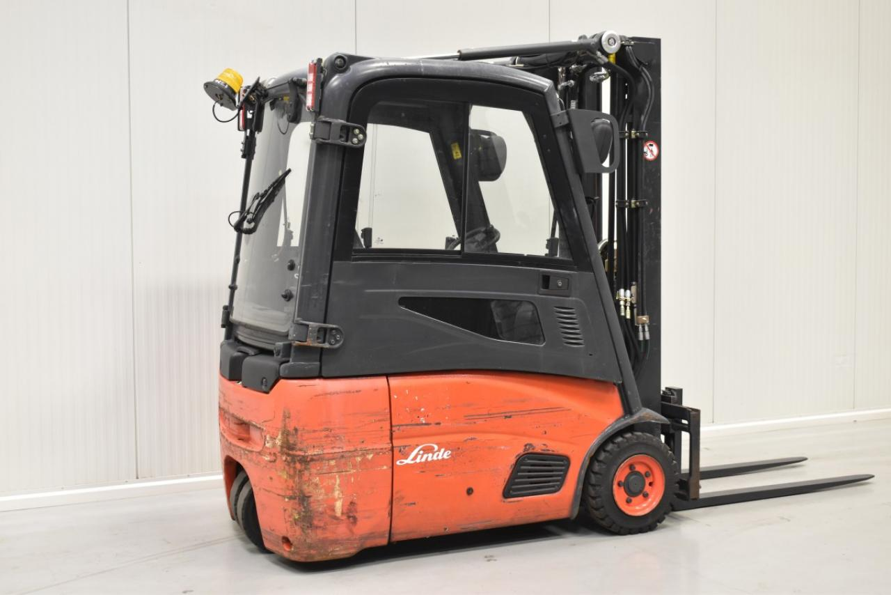 30450 LINDE E 16-01 - Battery, 2013, Cabin, SS, free lift, TRIPLEX, only 5090 hrs