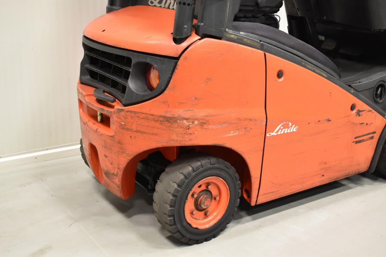 31146 LINDE H 16 D - Diesel, 2009, polokabina, BP, volný zdvih, Triplex, pouze 6542 mth