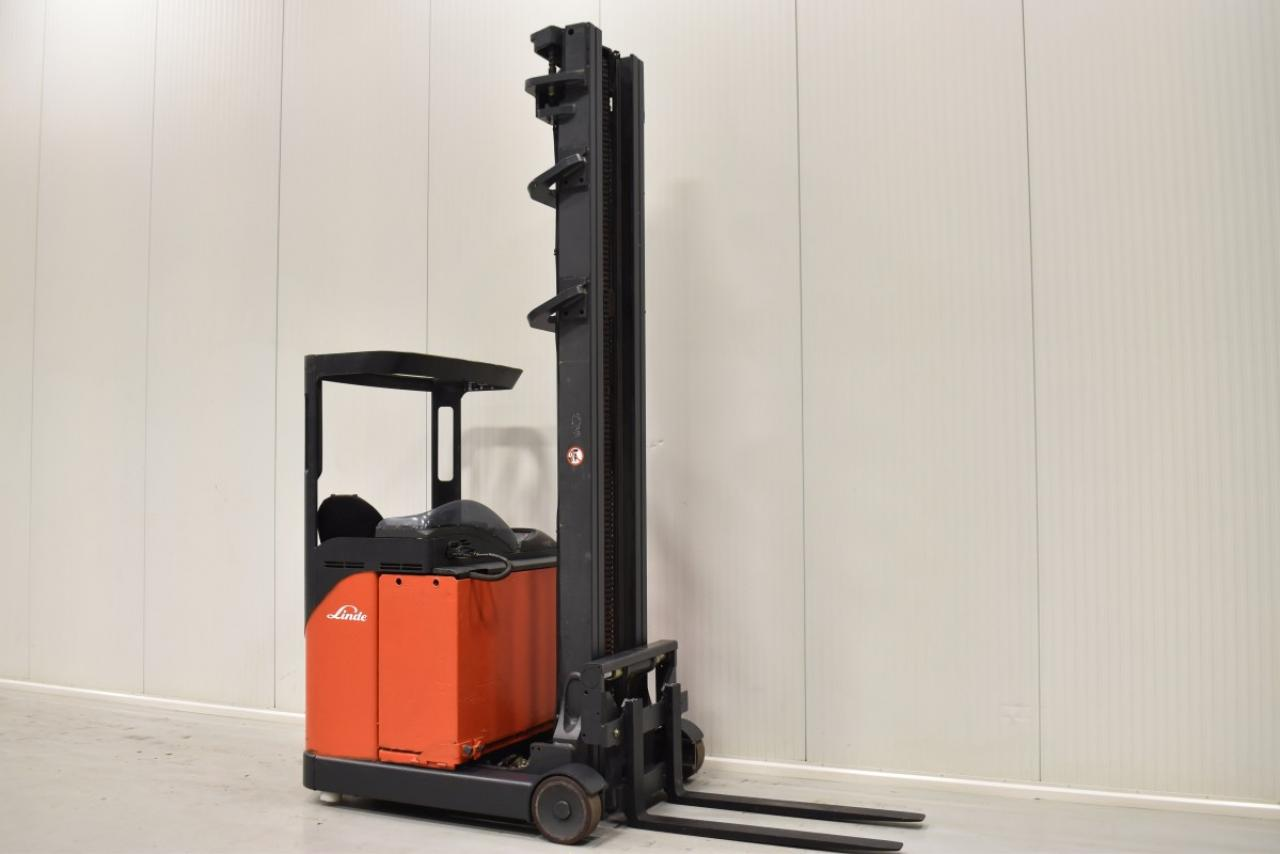 31562 LINDE R 14 HD - Battery, Reach truck, 2004, SS, Free lift, TRIPLEX, BATT 2011