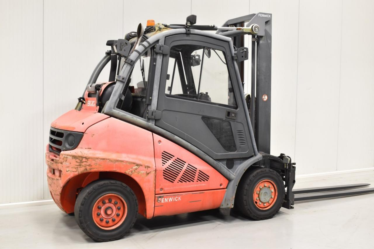 31823 LINDE H 40 T - LPG, 2007, Cabin, SS+FP, Free lift