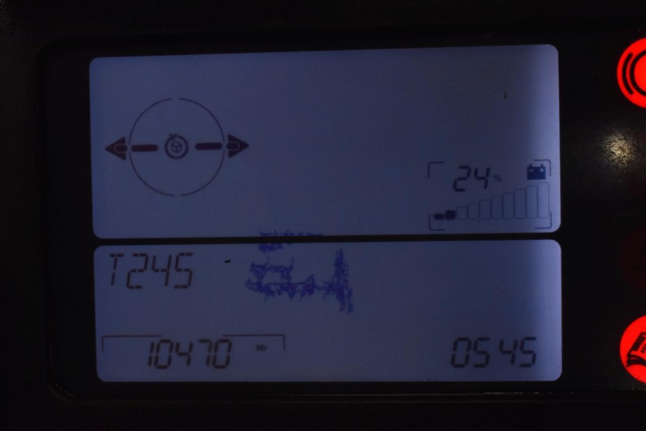 32525 LINDE R 16 SHD-12 - AKU, Retrak, 2010, BP, Volný zdvih, Triplex