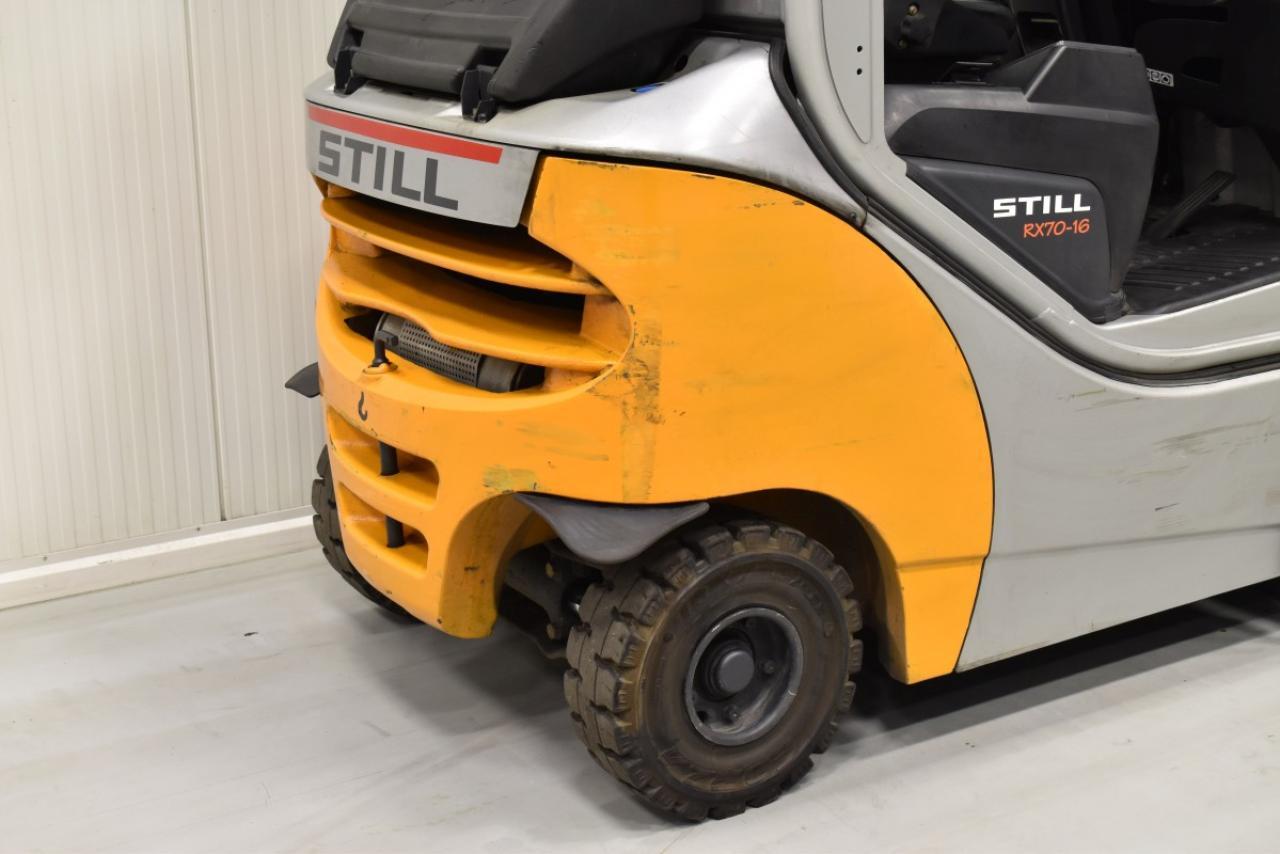 32602 STILL RX 70-16 - Diesel, 2009, polokabina, BP, volný zdvih, Triplex, pouze 4158 mth