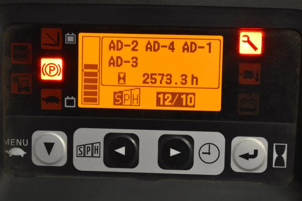 32777 TOYOTA 8FBET15 - AKU, 2013, polokabina, BP, Volný zdvih, Triplex, pouze 2414 mth