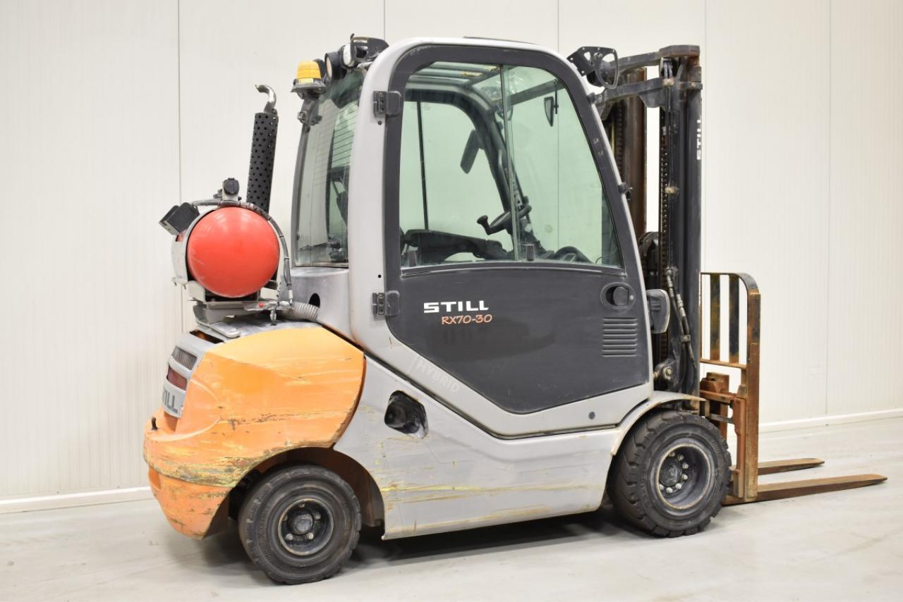 33041 STILL RX 70-30 T - LPG, 2014, Cabin, SS, free lift, TRIPLEX, only 5333 hrs