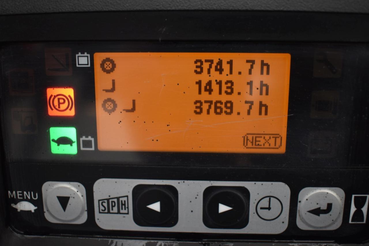 33084 TOYOTA 8FBMT15 - AKU, 2012, BP, volný zdvih, Triplex, pouze 3768 mth