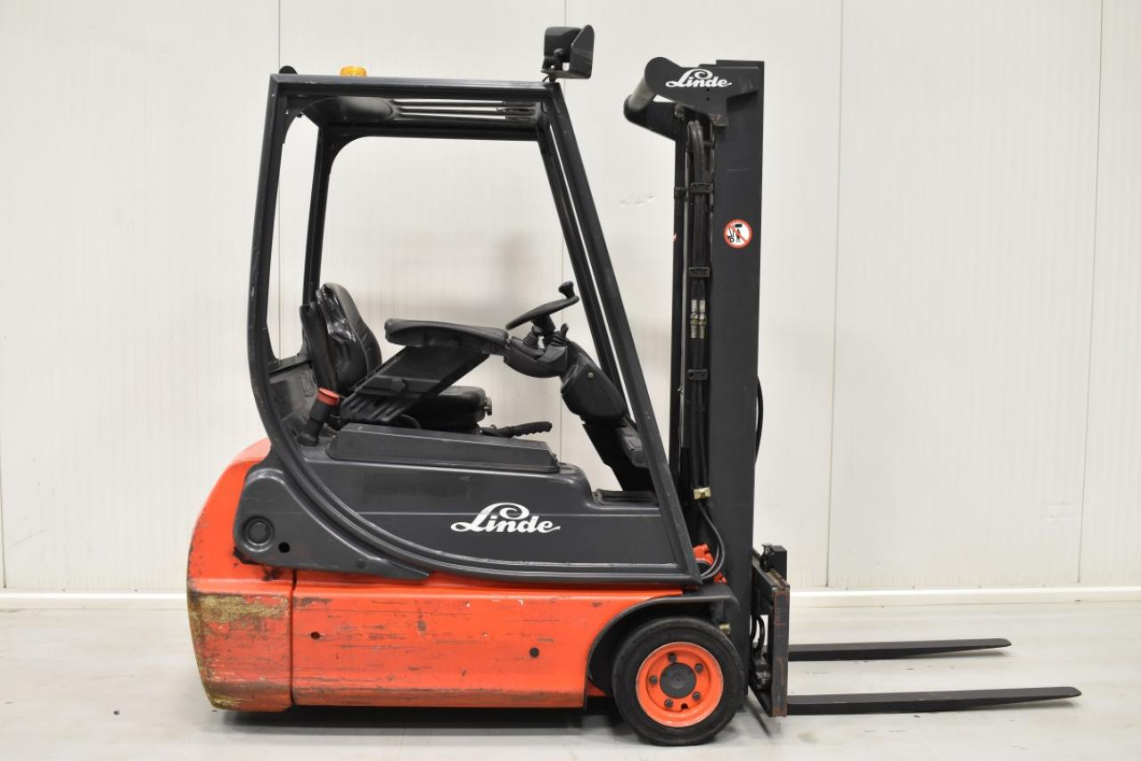 33477 LINDE E 16 C-02 - Battery, 2004, SS, Free lift, only 5467 hrs
