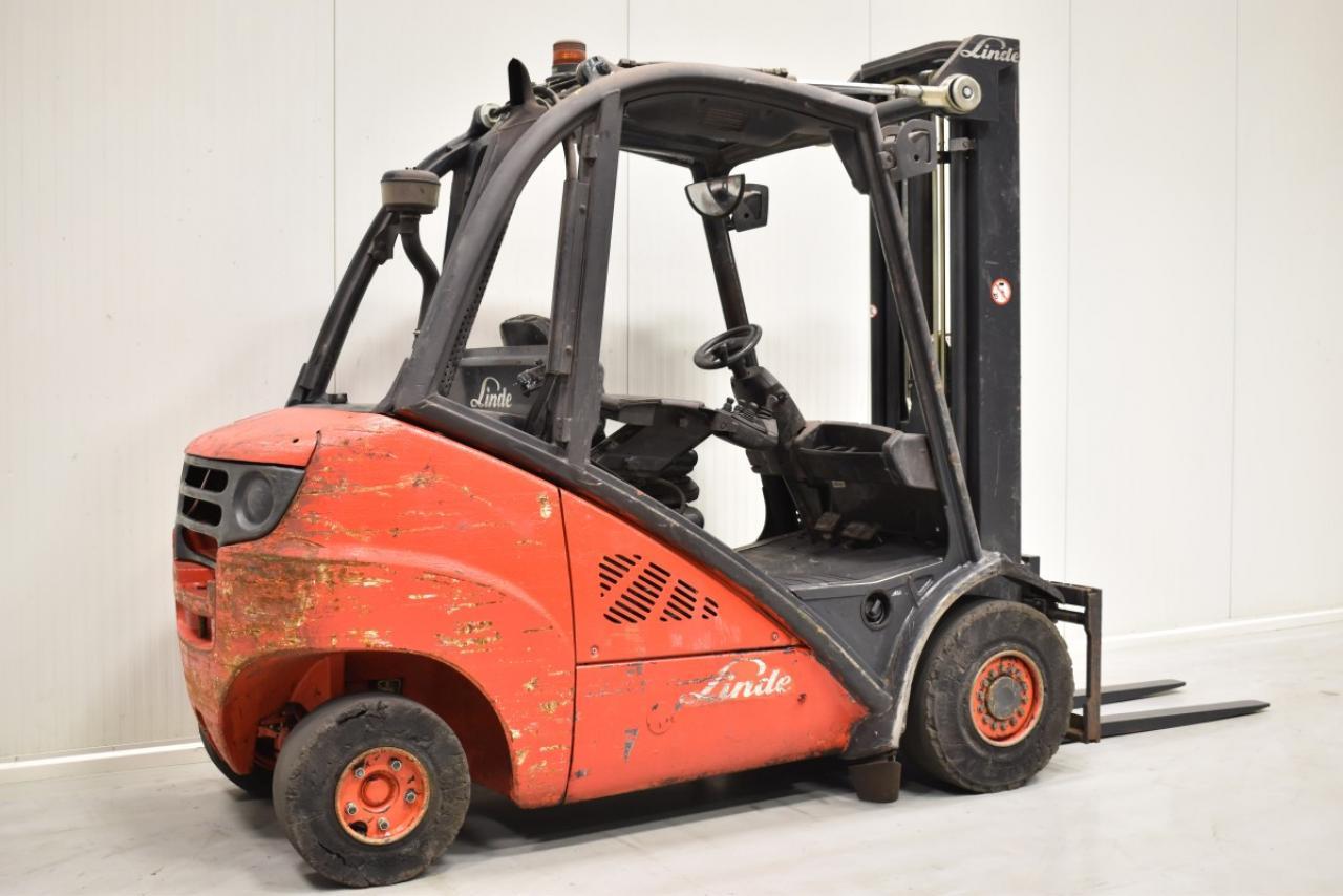 33682 LINDE H 35 D - Diesel, 2007, BP, Volný zdvih, Triplex