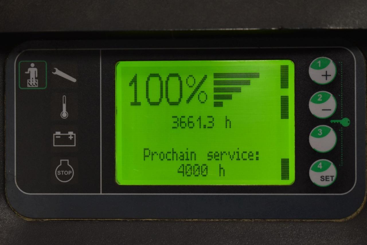 33938 LINDE D 12 AP - AKU, 2017, Volný zdvih + přízdvih, pouze 3661 mth