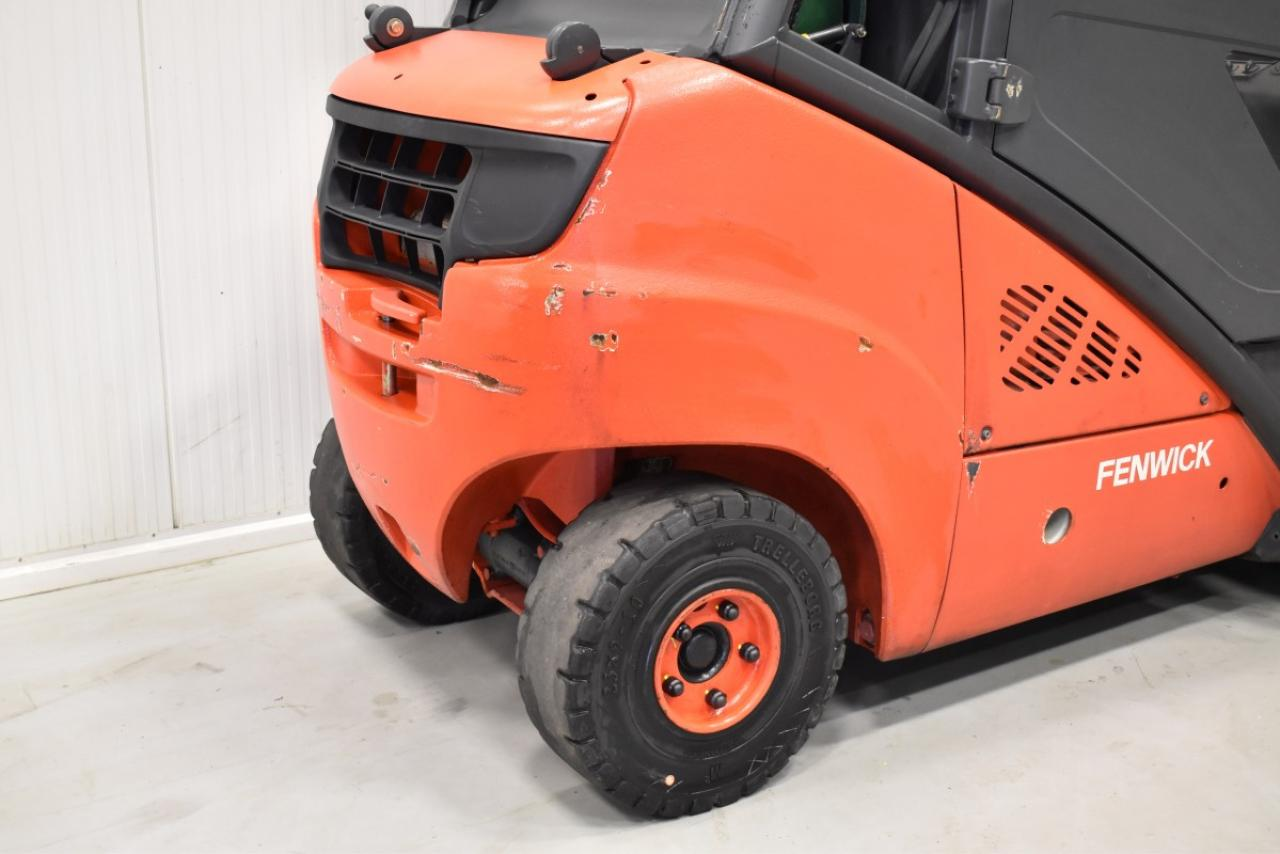 35077 LINDE H 30 T-03 - LPG, 2008, Cabin, SS, Free lift, TRIPLEX, only 7817 hrs