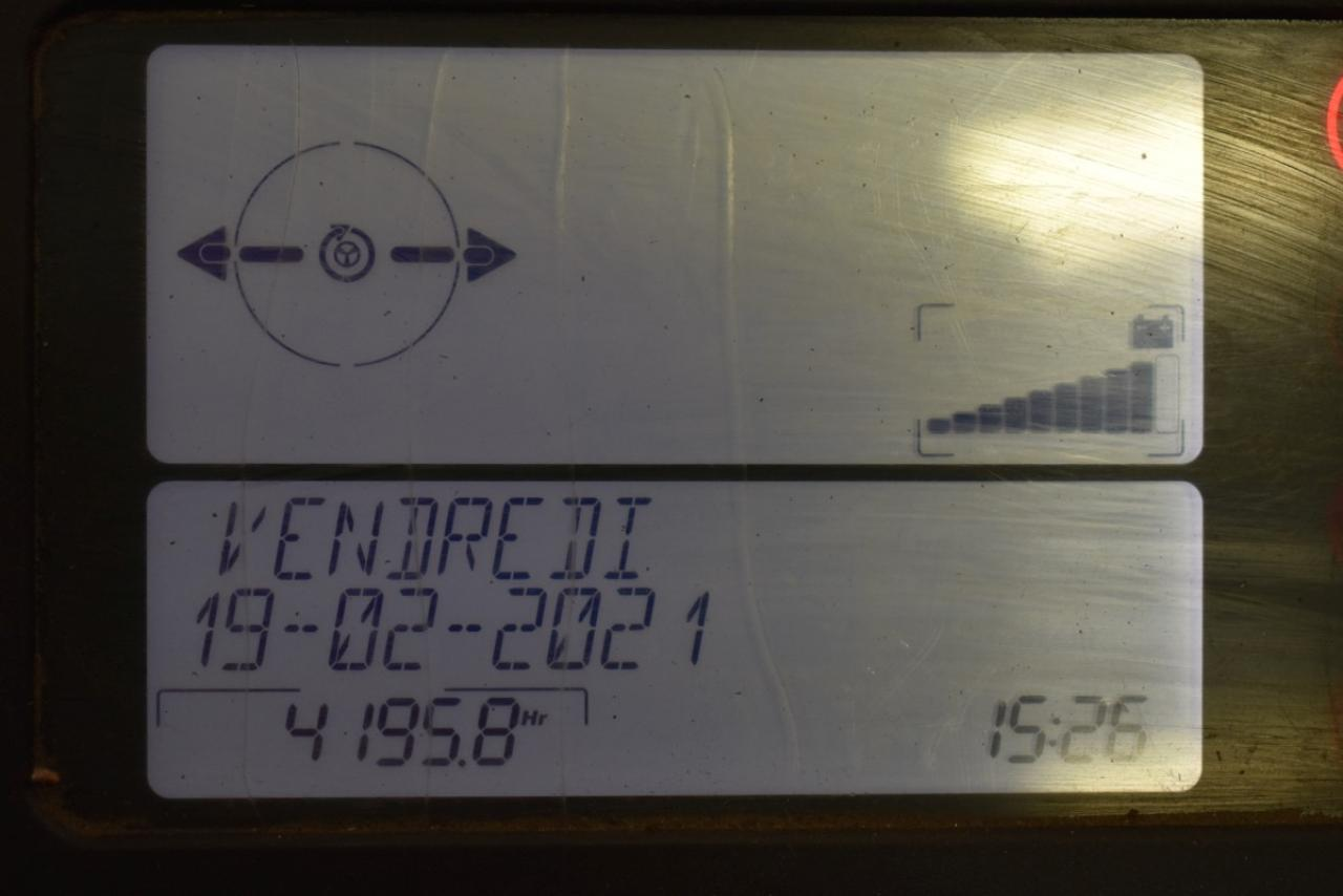 35297 LINDE R 12 S-12 - AKU, Retrak, 2013, BP, Volný zdvih, Triplex, pouze 4195 mth