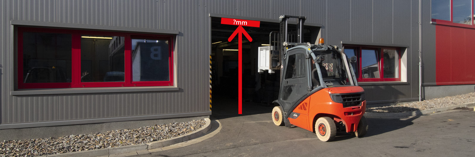 What is the maximum overall height of the forklift?